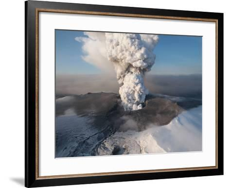 Crater at the Summit of the Volcano in Southern Iceland's Eyjafjallajokull Glacier--Framed Art Print