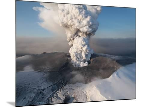 Crater at the Summit of the Volcano in Southern Iceland's Eyjafjallajokull Glacier--Mounted Photographic Print