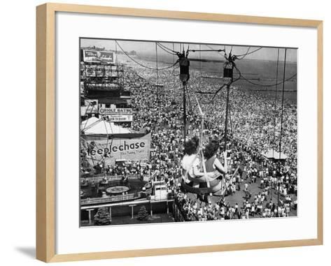 Coney Island View, New York, New York, c.1957--Framed Art Print