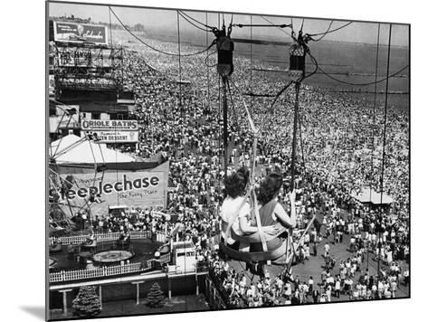 Coney Island View, New York, New York, c.1957--Mounted Photographic Print
