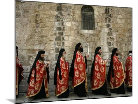 Greek Orthodox Bishops at Easter Mass, Jerusalem, Israel-Emilio Morenatti-Mounted Photographic Print