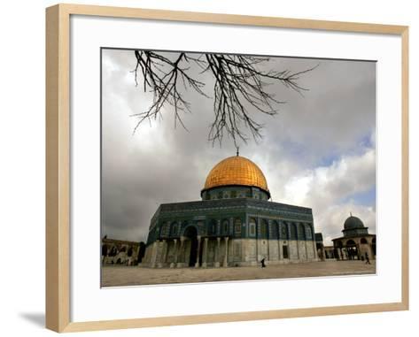 Golden Dome of the Rock Mosque inside Al Aqsa Mosque, Jerusalem, Israel-Muhammed Muheisen-Framed Art Print