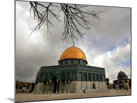 Golden Dome of the Rock Mosque inside Al Aqsa Mosque, Jerusalem, Israel-Muhammed Muheisen-Mounted Photographic Print
