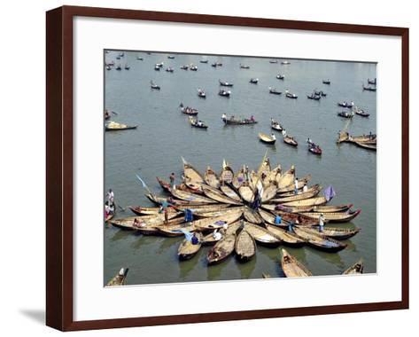 Boatmen Rest at Midday--Framed Art Print
