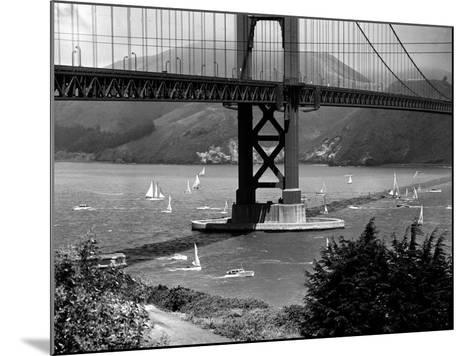 Golden Gate Bridge on Opening Day of the Yacht Season--Mounted Photographic Print