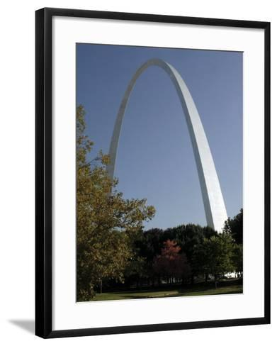 The Gateway Arch Rises High Above the Grounds of the Jefferson National Expansion Memorial--Framed Art Print