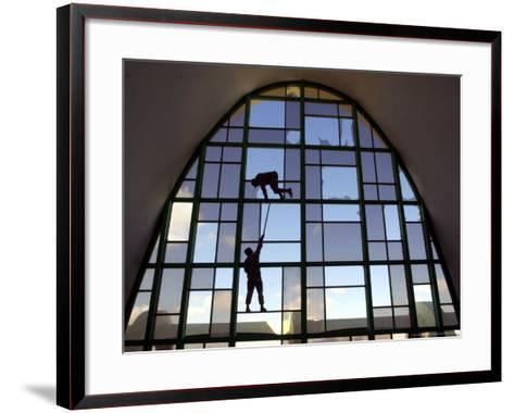Front of the Kandahar International Airport in Kandahar, Afghanistan-Dave Martin,-Framed Art Print