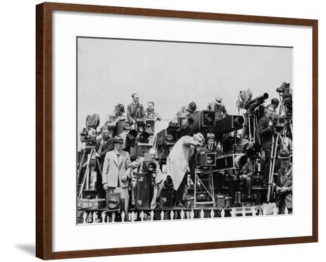 Press and Newsreel Long-Focus Cameras are Trained on the Royal Box at Ascot--Framed Art Print