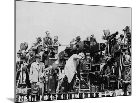 Press and Newsreel Long-Focus Cameras are Trained on the Royal Box at Ascot--Mounted Photographic Print