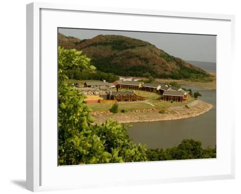 The Quartz Mountain Lodge in Lone Wolf, Oklahoma, Pictured on April 30, 2003-Sue Ogrocki-Framed Art Print