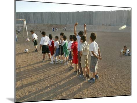 Palestinian Children Line Up--Mounted Photographic Print