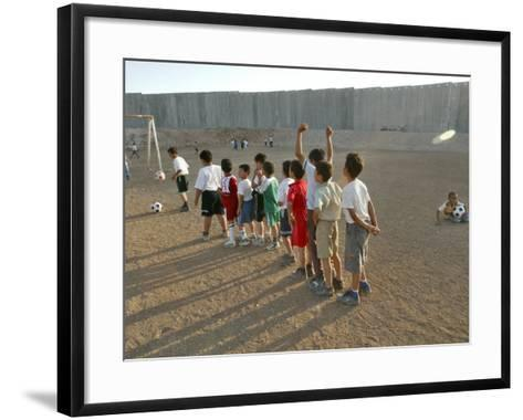 Palestinian Children Line Up--Framed Art Print