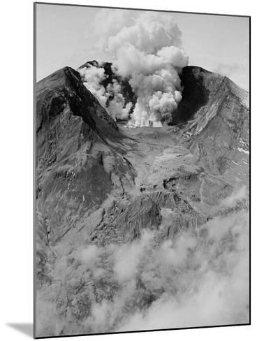 The North Side of Mount St. Helens is Wide Open as the Volcano Starts to Erupt--Mounted Photographic Print