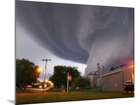 Huge Tornado Funnel Cloud Touches Down in Orchard, Iowa,--Mounted Photographic Print