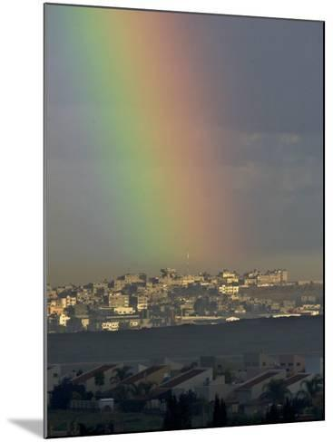 Rainbow is Seen over the Northern Gaza Strip, from the Israel-Gaza Border--Mounted Photographic Print