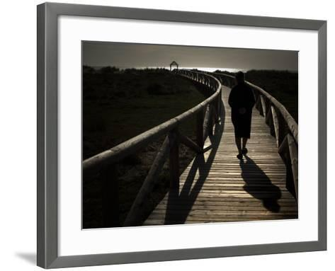 Along a Wooden Track During a Walk to the Beach in Village of Zahara De Los Atunes, Southern Spain--Framed Art Print