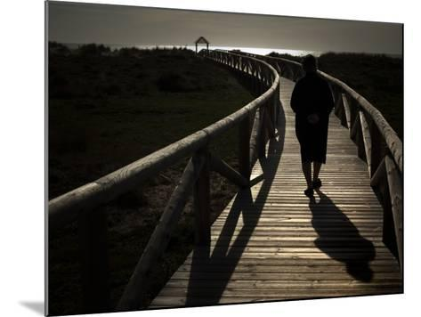 Along a Wooden Track During a Walk to the Beach in Village of Zahara De Los Atunes, Southern Spain--Mounted Photographic Print