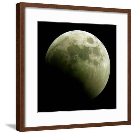 Lunar Eclipse-Harry Cabluck-Framed Art Print