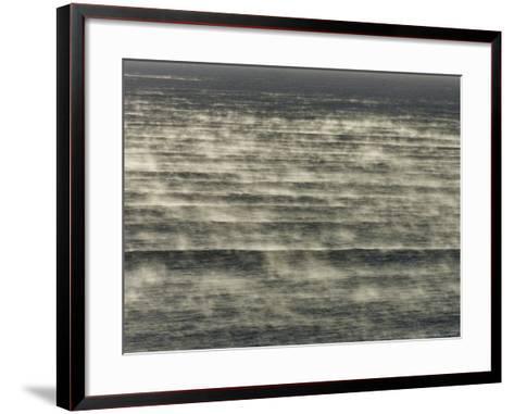 Steam Rises of the Sea at Popular Surf Beach--Framed Art Print