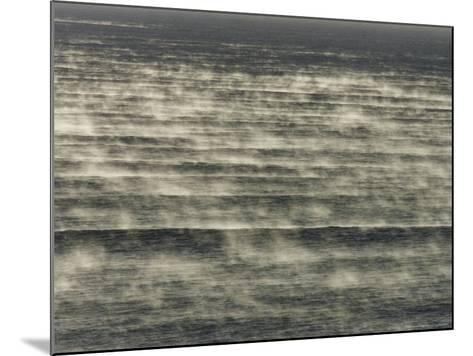 Steam Rises of the Sea at Popular Surf Beach--Mounted Photographic Print