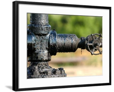 A Control Valve of an Oil Pump--Framed Art Print