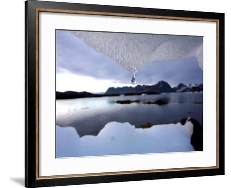 An Iceberg Melts in Kulusuk, Greenland--Framed Art Print