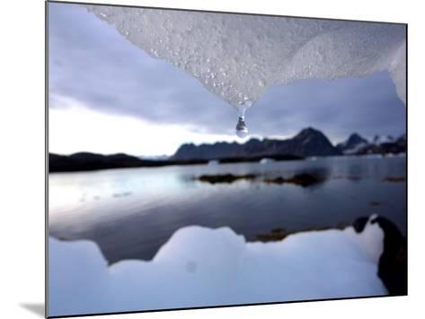 An Iceberg Melts in Kulusuk, Greenland--Mounted Photographic Print