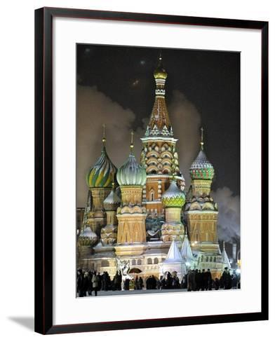 People Stroll--Framed Art Print
