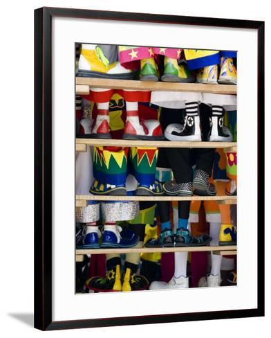 Group Photo of Clowns' Shoes at a Week Long Latin American Clown Convention in Mexico City--Framed Art Print