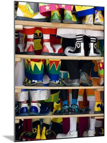 Group Photo of Clowns' Shoes at a Week Long Latin American Clown Convention in Mexico City--Mounted Photographic Print