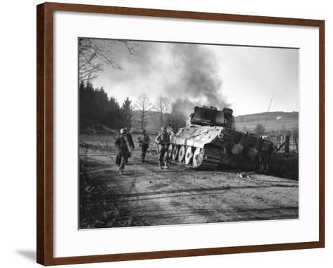 WWII Battle of the Bulge-Peter J^ Carroll-Framed Art Print