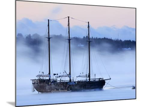 Arctic Sea Smoke Drifts by Raw Faith, an 88-Foot Galleon, on a Minus-12 Degree F Morning--Mounted Photographic Print