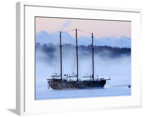 Arctic Sea Smoke Drifts by Raw Faith, an 88-Foot Galleon, on a Minus-12 Degree F Morning--Framed Art Print