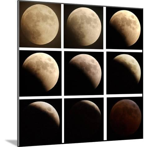 This Sequence of Photographs Shows the Total Eclipse of the Moon over Denver, Colorado--Mounted Photographic Print