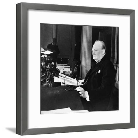Winston Churchill--Framed Art Print