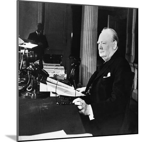 Winston Churchill--Mounted Photographic Print
