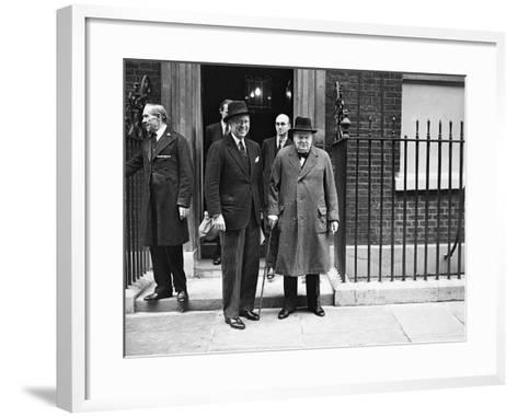 WWII London Churchill and Kennedy--Framed Art Print