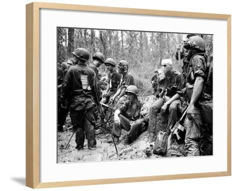 Vietnam War - U.S. Army Zone D-Henri Huet-Framed Art Print