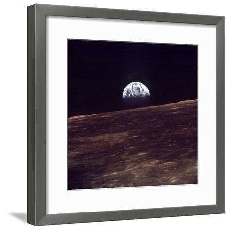 Apollo 8 Earth--Framed Art Print