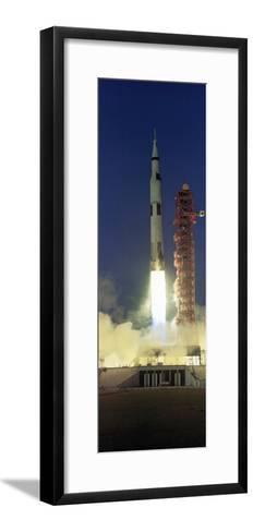 Saturn V Rocket--Framed Art Print