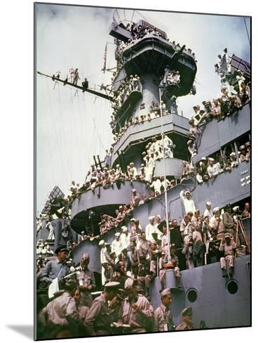 WWII Japan Surrender--Mounted Photographic Print