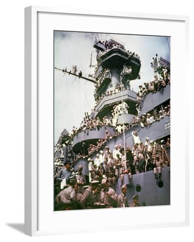 WWII Japan Surrender--Framed Art Print