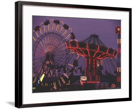 The Popular Midway Section of the New York State Fair-Michael Okoniewski-Framed Art Print