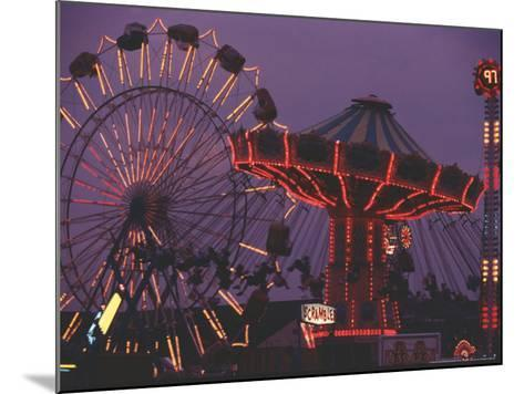 The Popular Midway Section of the New York State Fair-Michael Okoniewski-Mounted Photographic Print