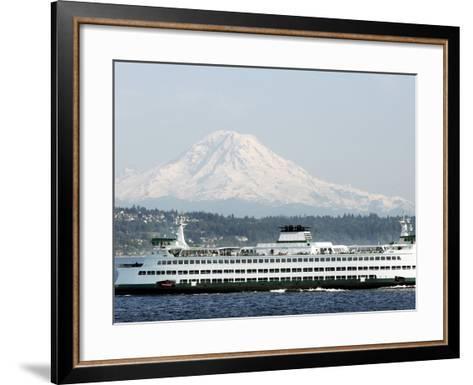 Mount Rainier-Ted S^ Warren-Framed Art Print