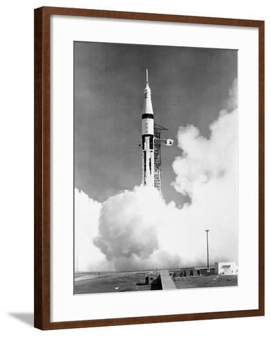 U.S. Saturn Apollo 7 Liftoff--Framed Art Print