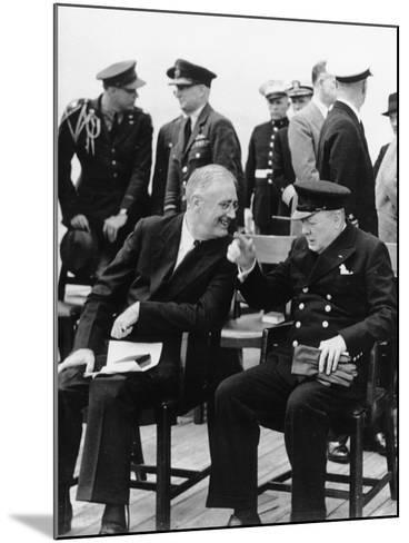 WWII Roosevelt Churchill--Mounted Photographic Print