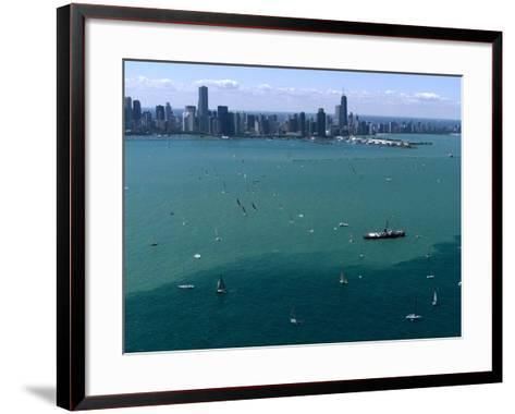 Mackinac Race-Beth A^ Keiser-Framed Art Print