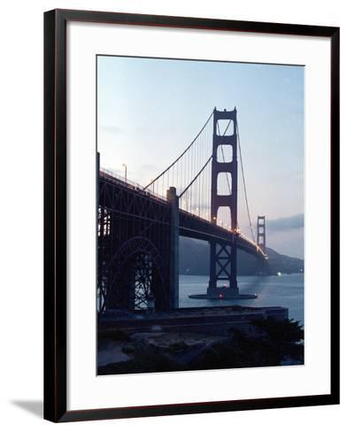 Golden Gate Bridge at Dusk-Eric Risberg-Framed Art Print