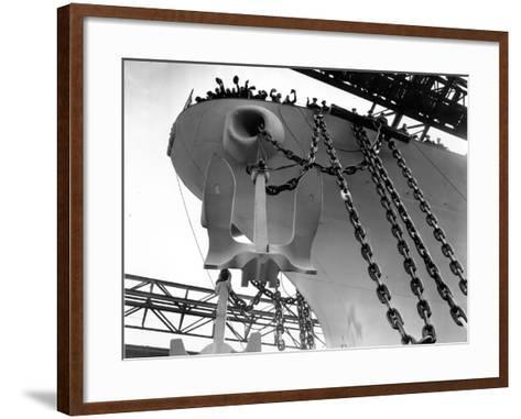 Uss New Jersey Launched--Framed Art Print